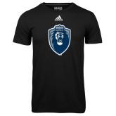 Adidas Climalite Black Ultimate Performance Tee-Lion Shield