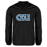 V Neck Black Raglan Windshirt-ODU