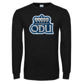 Black Long Sleeve T Shirt-ODU w Crown