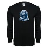 Black Long Sleeve T Shirt-Monarchs Shield