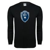 Black Long Sleeve T Shirt-Lion Shield