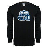 Black Long Sleeve T Shirt-ODU with Crown