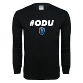 Black Long Sleeve T Shirt-ODU Hashtag