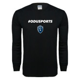 Black Long Sleeve T Shirt-ODUSPORTS Hashtag