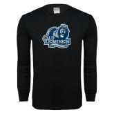 Black Long Sleeve T Shirt-Primary Mark Distressed