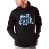 Under Armour Black Armour Fleece Hoodie-ODU w Crown