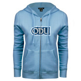 ENZA Ladies Light Blue Fleece Full Zip Hoodie-ODU