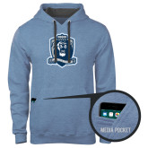Contemporary Sofspun Carolina Heather Hoodie-Monarchs Shield