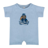 Light Blue Infant Romper-Youth Mark Big Blue