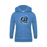 Youth Light Blue Fleece Hoodie-Primary Mark