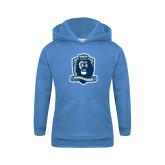 Youth Light Blue Fleece Hood-Monarchs Shield