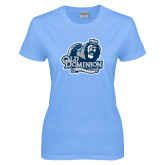 Ladies Sky Blue T-Shirt-Lady Monarchs