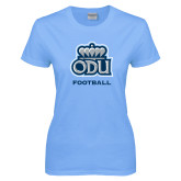 Ladies Sky Blue T-Shirt-Football