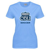 Ladies Sky Blue T-Shirt-Soccer