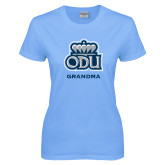 Ladies Sky Blue T Shirt-Grandma