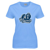 Ladies Sky Blue T-Shirt-Primary Mark