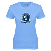 Ladies Sky Blue T-Shirt-Monarchs Shield