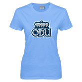 Ladies Sky Blue T-Shirt-ODU with Crown