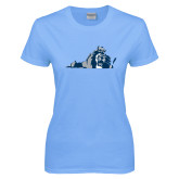Ladies Sky Blue T-Shirt-Lion State