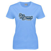 Ladies Sky Blue T Shirt-Old Dominion University