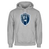 Grey Fleece Hoodie-Lion Shield