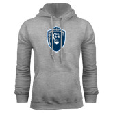 Grey Fleece Hoodie-Lion Shield