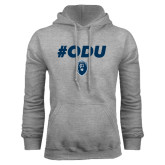 Grey Fleece Hoodie-ODU Hashtag