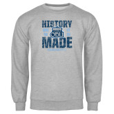 Grey Fleece Crew-History Made - ODU vs VT