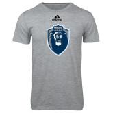 Adidas Sport Grey Logo T Shirt-Lion Shield