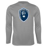 Performance Steel Longsleeve Shirt-Lion Shield