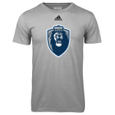 Adidas Climalite Sport Grey Ultimate Performance Tee-Lion Shield