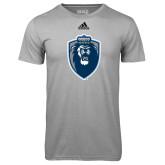 Adidas Climalite Sport Grey Ultimate Performance Tee-Lion Shield
