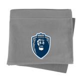 Grey Sweatshirt Blanket-Lion Shield