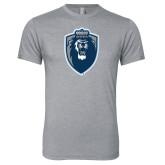 Next Level Premium Heather Tri Blend Crew-Lion Shield