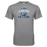 Grey T Shirt-Conference USA Womens Golf Champions
