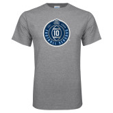 Grey T Shirt-10 Years Football