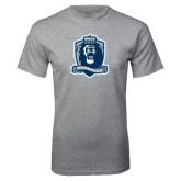 Grey T Shirt-Monarchs Shield