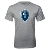 Grey T Shirt-Lion Shield