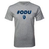 Grey T Shirt-ODU Hashtag