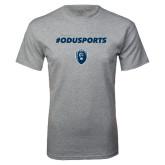 Grey T Shirt-ODUSPORTS Hashtag