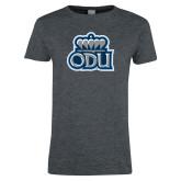 Ladies Dark Heather T Shirt-ODU w Crown