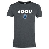 Ladies Dark Heather T Shirt-#ODU