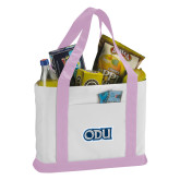 Contender White/Pink Canvas Tote-ODU