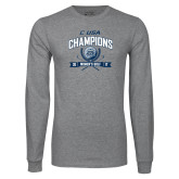 Grey Long Sleeve T Shirt-Conference USA Womens Golf Champions
