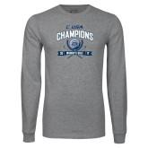 Grey Long Sleeve T Shirt-Conference USA Womens Golf Champions