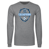 Grey Long Sleeve T Shirt-2017 Conference USA Mens Soccer