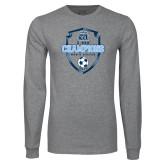 Grey Long Sleeve T Shirt-2017 Conference USA Mens Soccer