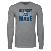 Grey Long Sleeve T Shirt-History Made - ODU vs VT