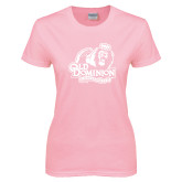 Ladies Pink T-Shirt-Primary Mark