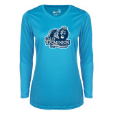 Ladies Syntrel Performance Light Blue Longsleeve Shirt-Primary Mark